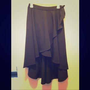 High Low Black Skirt w/ Tie